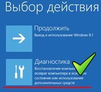 Безопасный режим на Windows 8.1.